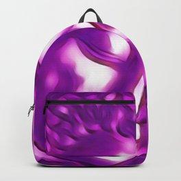 Pink Purple Buddha Art Portrait Backpack