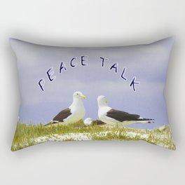PEACE TALK Rectangular Pillow