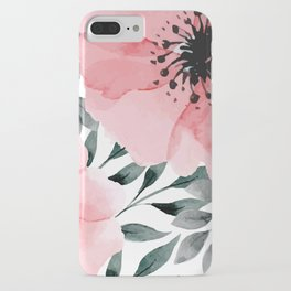 Big Watercolor Flowers iPhone Case