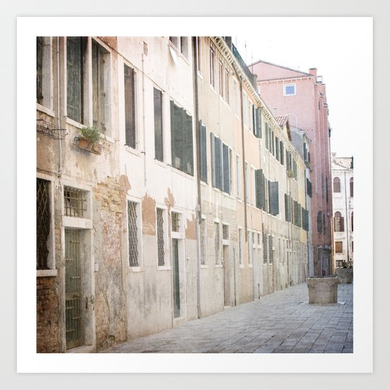 The Pastel Ladies - Venice, Italy Art Print