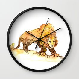 Fall TreeLion Wall Clock