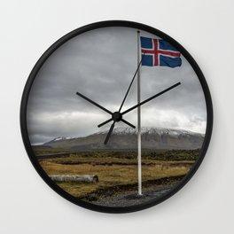 Iceland. Wall Clock
