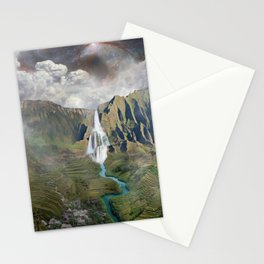 Tropical Waterfall Stationery Cards