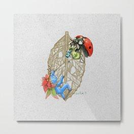 ladybug's propose Metal Print