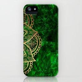 Mandala - Emerald iPhone Case