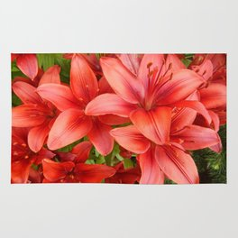 """""""A Gathering of Lilies"""" - 5 [D4471~15] Rug"""