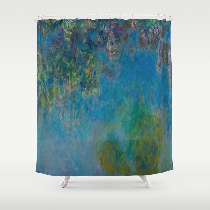 Claude Monet Wisteria Shower Curtain