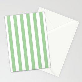 Vertical Mint Stripes Pattern Stationery Cards