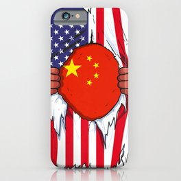China Flag Blood Inside Me Residence Satisfaction Chinese American Gift Premium iPhone Case