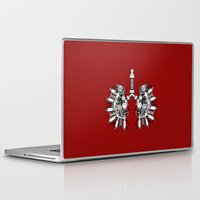 lungs Laptop & iPad Skins featuring lungs by khet13