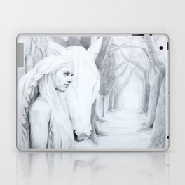 The woman, the horse, their path Laptop & iPad Skin
