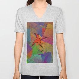 2506 Little cubistic phoenix ... Unisex V-Neck