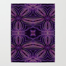 Colorful Purple Flowers Poster