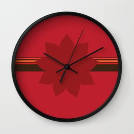 9 Point Star on Red Wall Clock