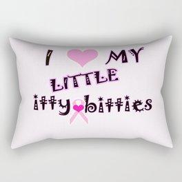 itty bitty titties Rectangular Pillow