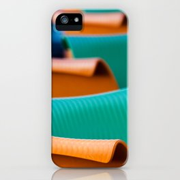 Blue Green and Orange Abstract iPhone Case