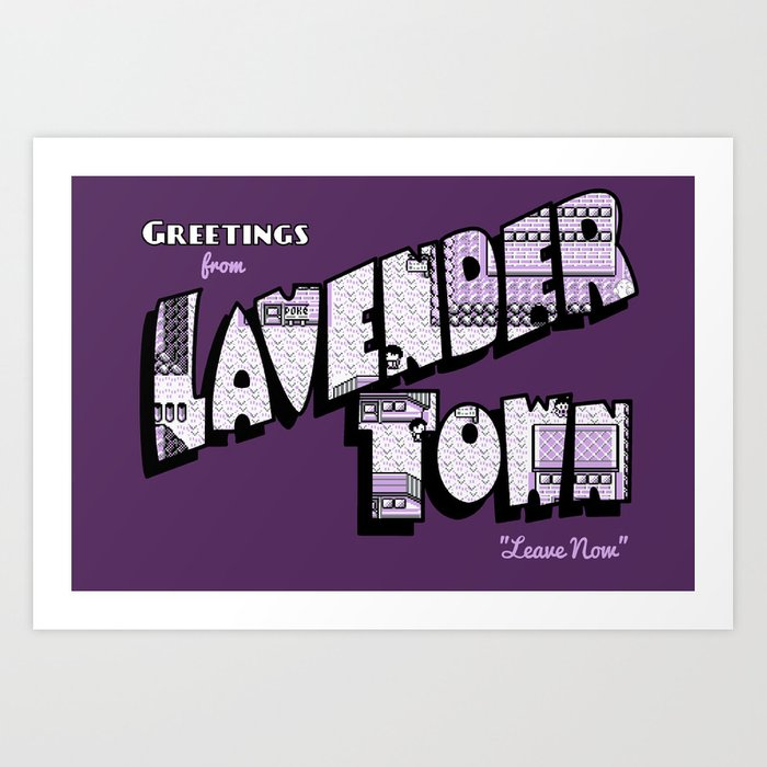 Greetings From Lavender Town Art Print By Merimeaux Society6