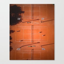 Tennis court orange Canvas Print