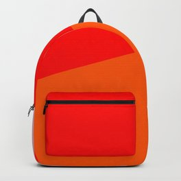 red orange pink Backpack