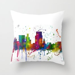 Boise, Idaho Skyline Throw Pillow