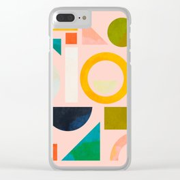 geometric play modern art Clear iPhone Case