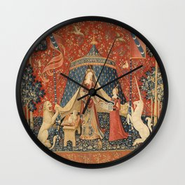 The Lady And The Unicorn Wall Clock