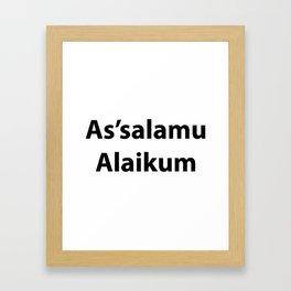 As'salamu Alaikum Framed Art Print