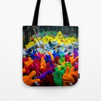 yolo Tote Bags featuring YOLO by Chee Sim