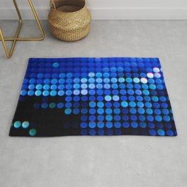 BOKEH PHOTOGRAPHY OF BLUE LIGHTS Rug
