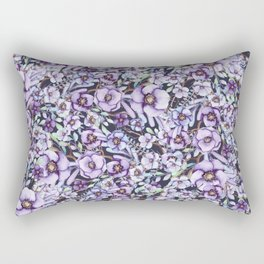 FLOWERS WATERCOLOR 24 Rectangular Pillow