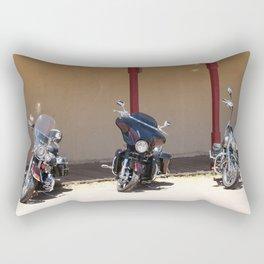Motorcycle Parade Rectangular Pillow