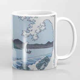 Sea Off Satta - Japanese Woodblock Print by Hiroshige Coffee Mug