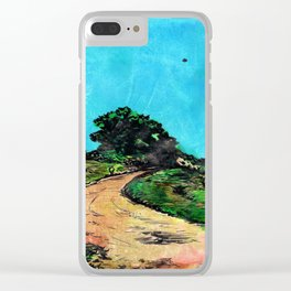 Dirt Road ( with U.F.O.) Clear iPhone Case