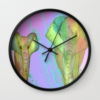 simba Wall Clocks featuring SIMBA by Laake-Photos