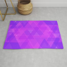 Bright purple and pink triangles in the intersection and overlay. Rug