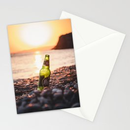A Toast to Vacation   Melinda Beach Lesvos Greece Travel Photography   Sunset Photo Print Stationery Cards