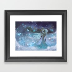 Lady Winter Framed Art Print
