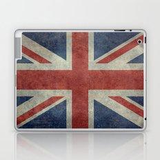 England's Union Jack flag of the United Kingdom - Vintage 1:2 scale version Laptop & iPad Skin