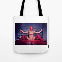 Bed Time - Naked woman tied up on a bed Tote Bag