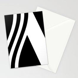 black and white pattern Stationery Cards