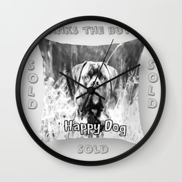 Happy Dog 2 Wall Clock