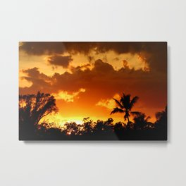A Tropical Sunset Metal Print