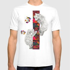 The Innocent Wilderness by Peter Striffolino and Kris Tate White MEDIUM Mens Fitted Tee