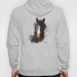 Black Brown Horse Artwork Hoody
