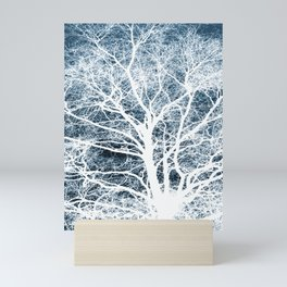 Tree silhouette Mini Art Print
