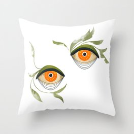 citrus in the bushes ~ Throw Pillow