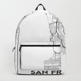 Minimal City Maps - Map Of San Francisco, California, United States Backpack