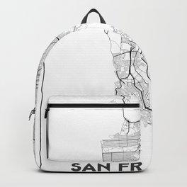 Minimal City Maps - Map Of San Francisco, California, United States Backpack