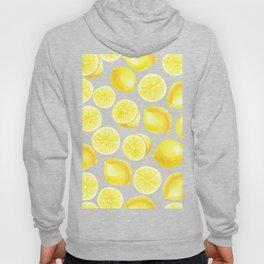 Watercolor lemons design Hoody