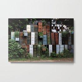 Rustic file cabinets by David Baerwalde Metal Print
